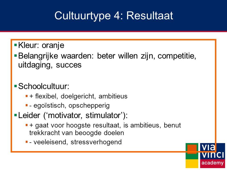 Cultuurtype 4: Resultaat