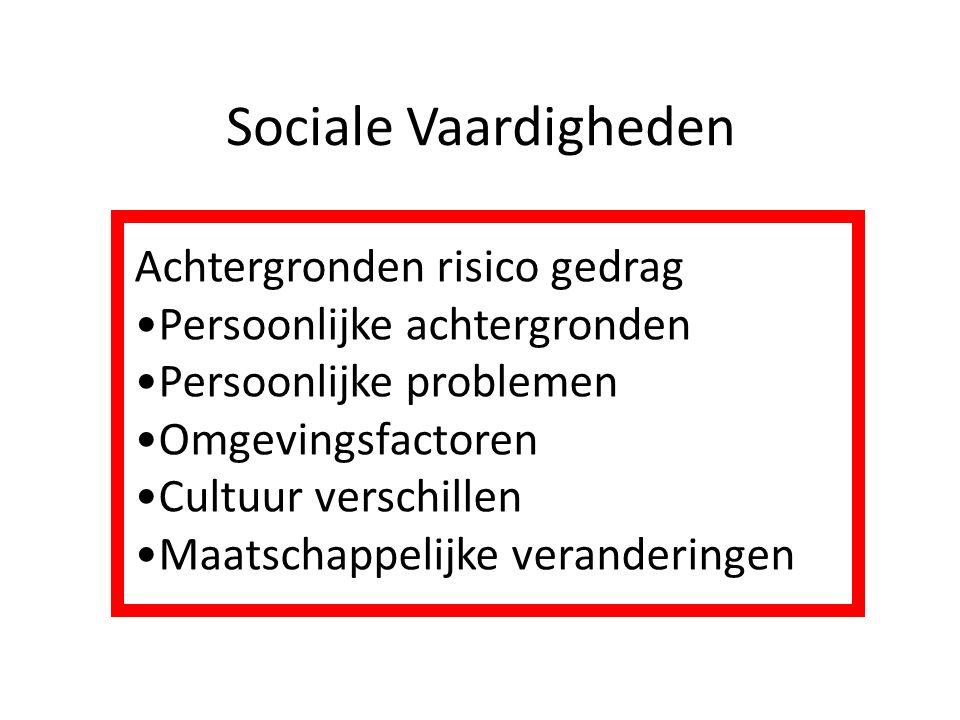 Sociale Vaardigheden Achtergronden risico gedrag