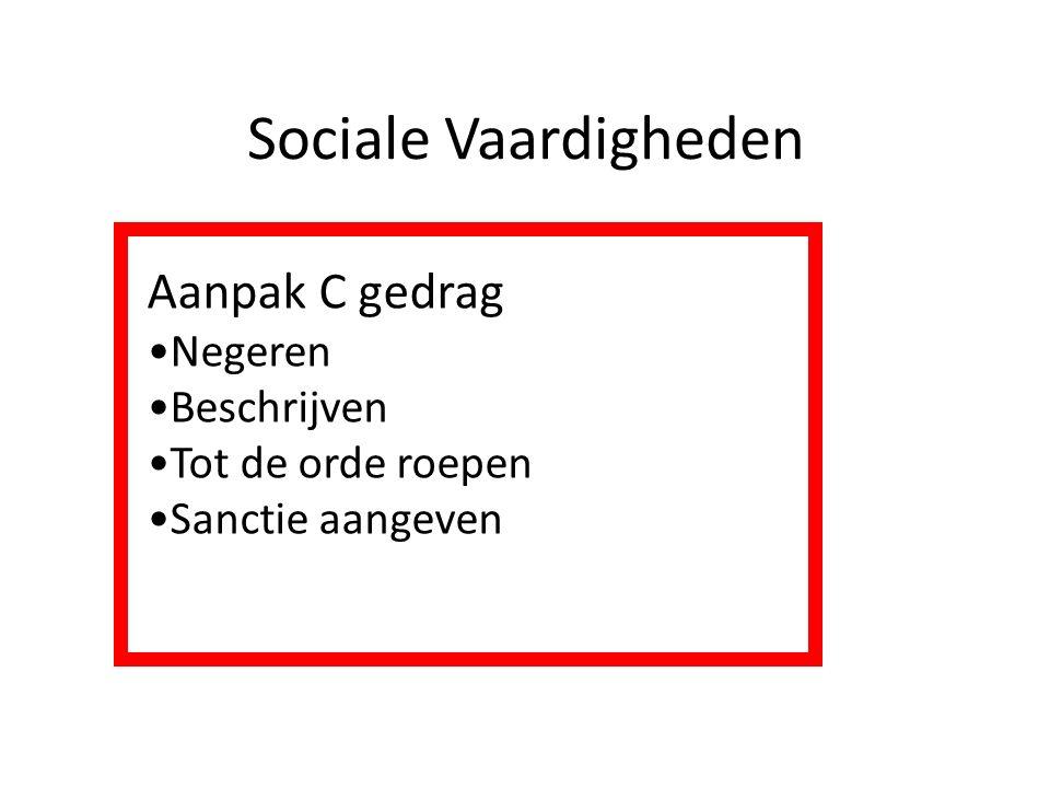 Sociale Vaardigheden Aanpak C gedrag Negeren Beschrijven