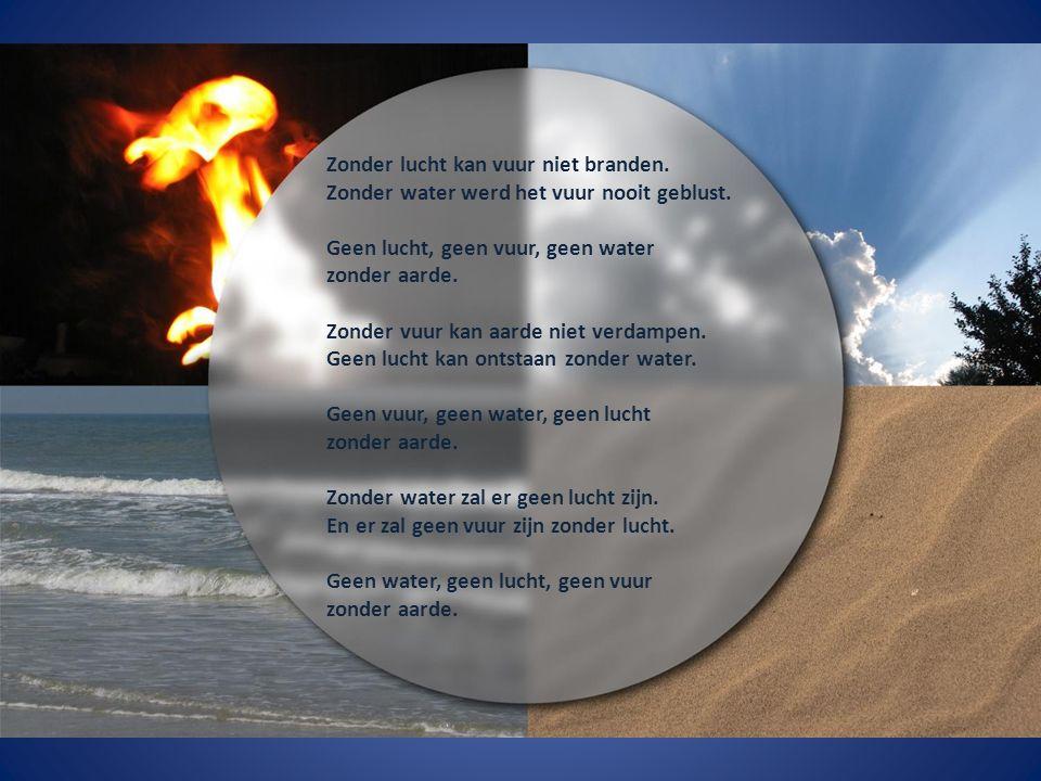 Zonder lucht kan vuur niet branden