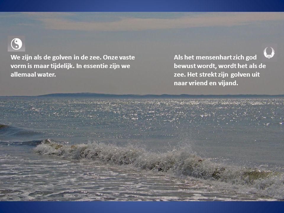 We zijn als de golven in de zee. Onze vaste vorm is maar tijdelijk