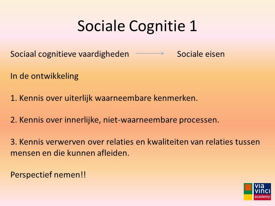 Sociale Cognitie 1 Sociaal cognitieve vaardigheden In de ontwikkeling