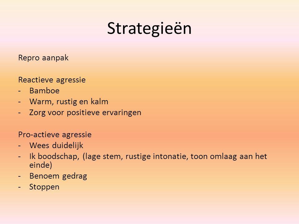 Strategieën Repro aanpak Reactieve agressie Bamboe