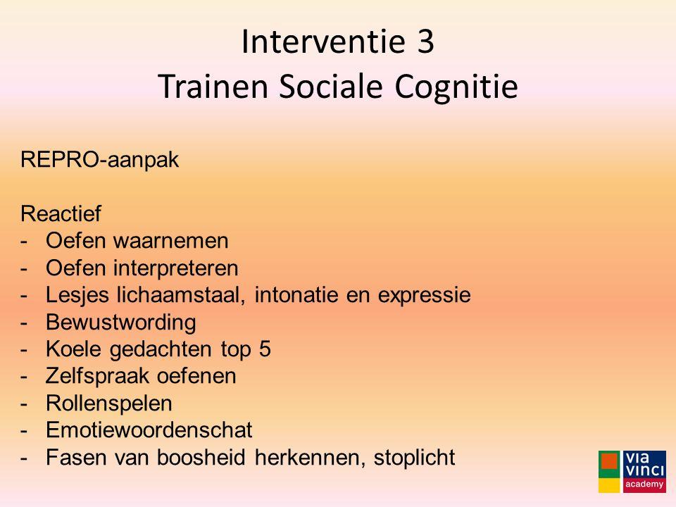 Interventie 3 Trainen Sociale Cognitie