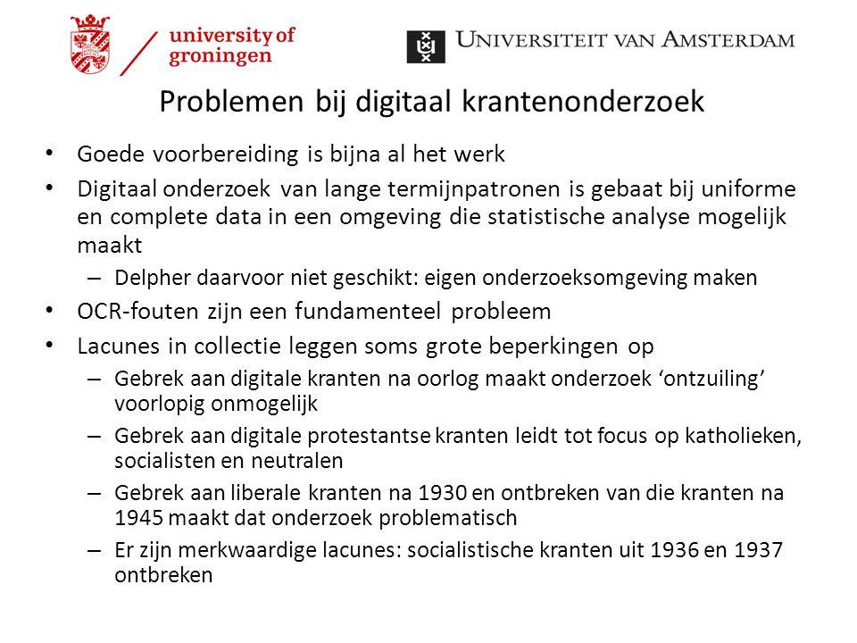 Problemen bij digitaal krantenonderzoek