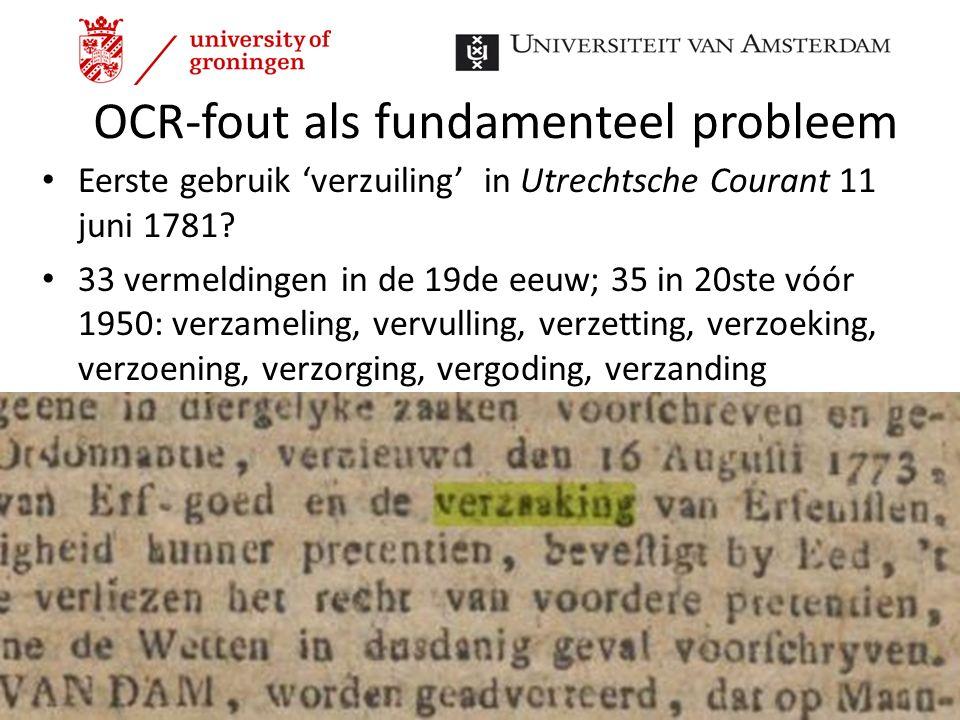 OCR-fout als fundamenteel probleem