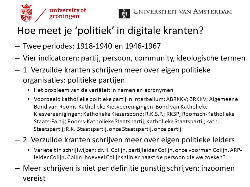 Hoe meet je 'politiek' in digitale kranten