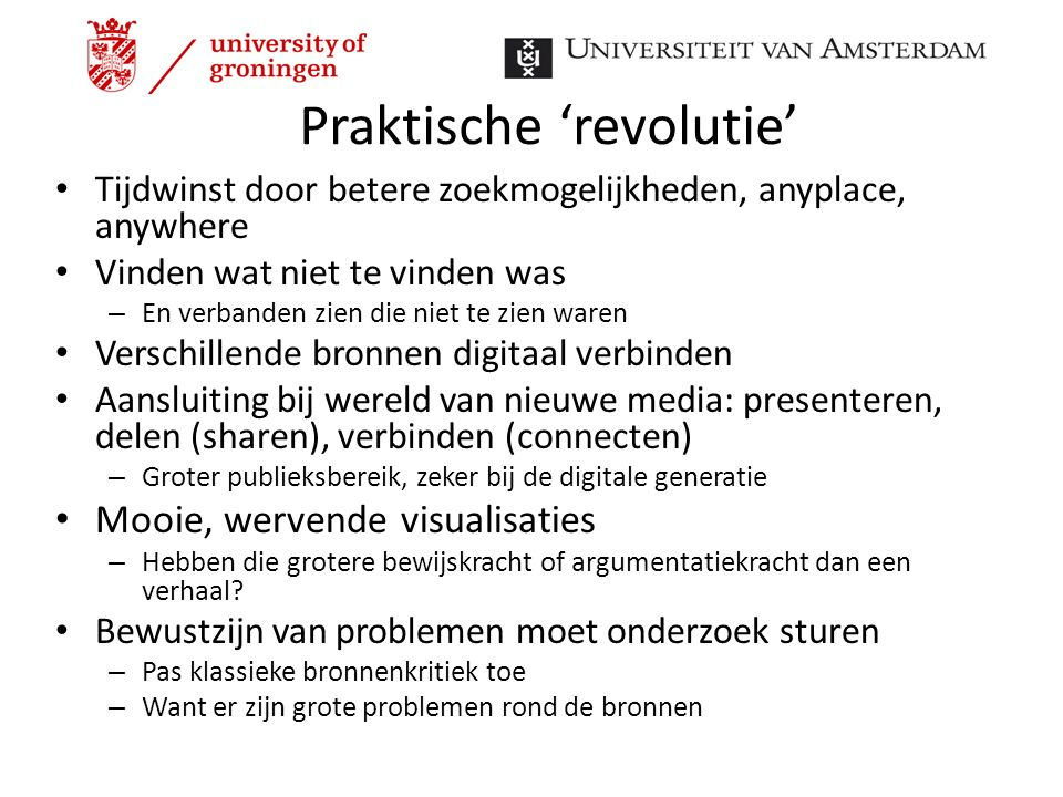 Praktische 'revolutie'
