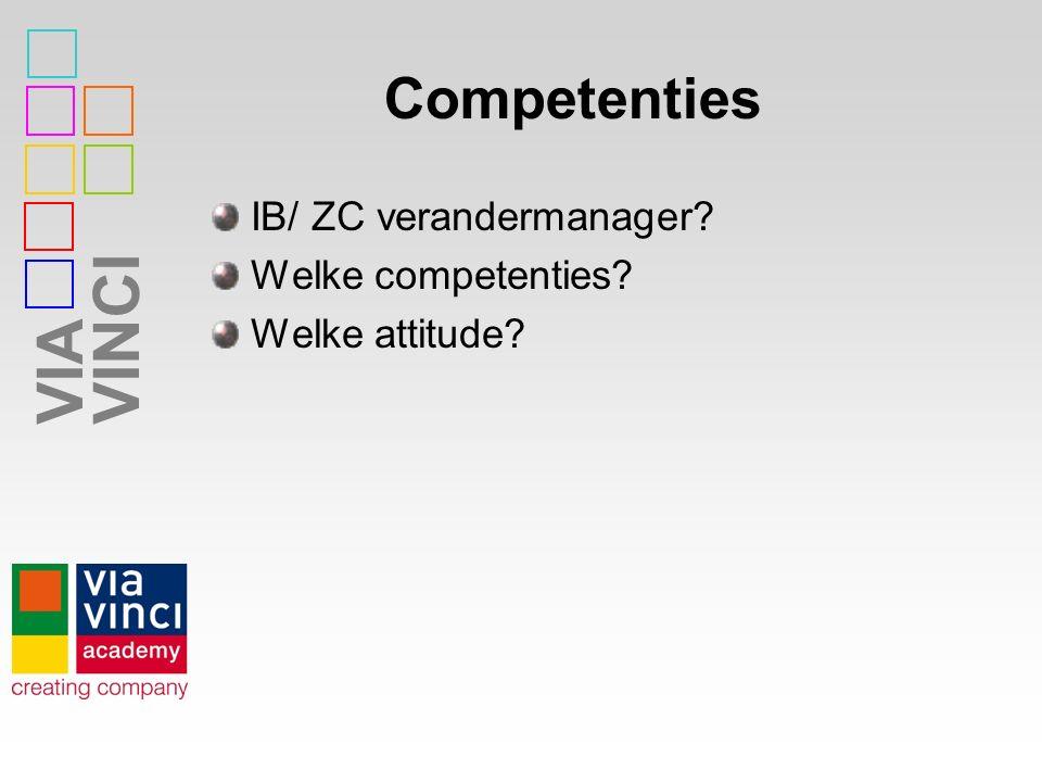 Competenties IB/ ZC verandermanager Welke competenties