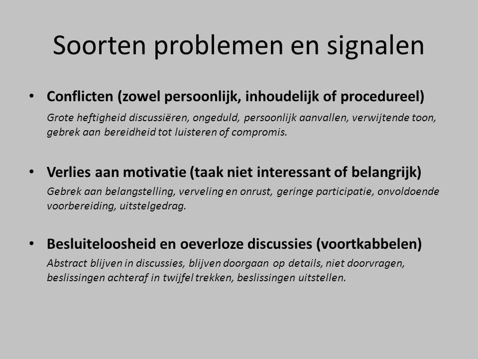 Soorten problemen en signalen