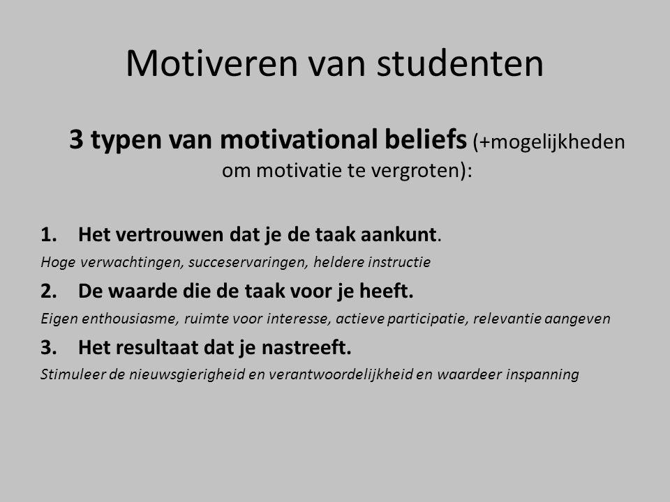 Motiveren van studenten