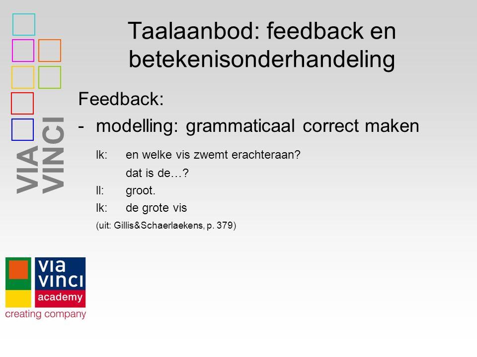 Taalaanbod: feedback en betekenisonderhandeling