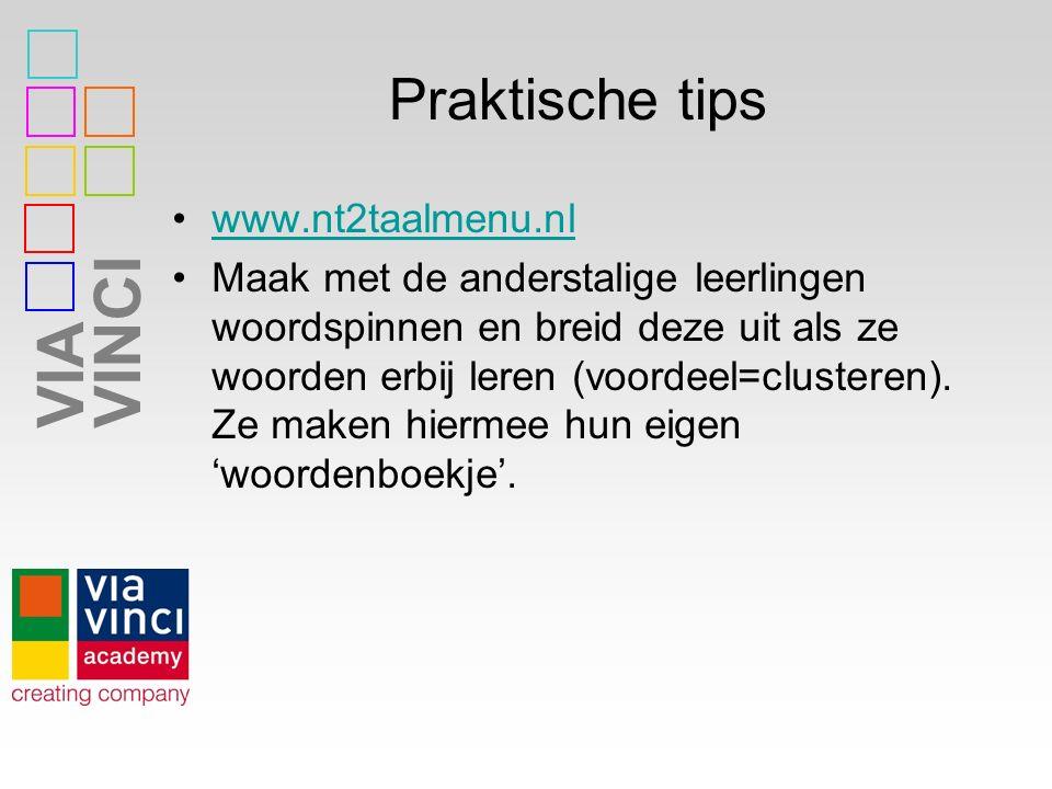 Praktische tips www.nt2taalmenu.nl