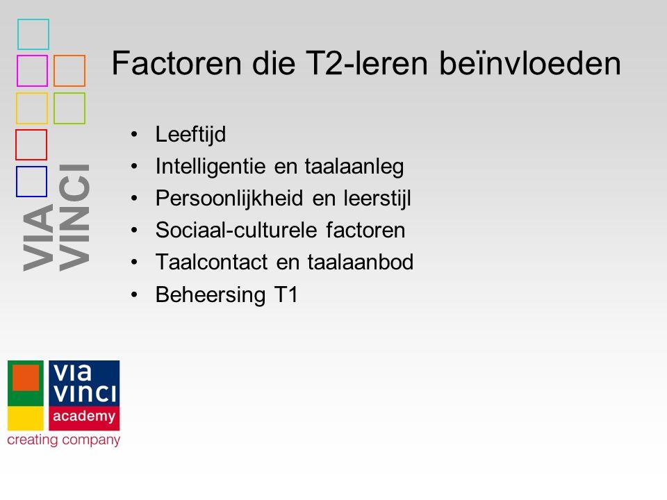 Factoren die T2-leren beïnvloeden