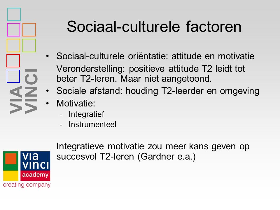 Sociaal-culturele factoren