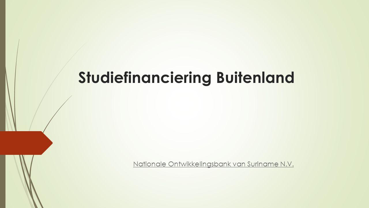 Studiefinanciering Buitenland