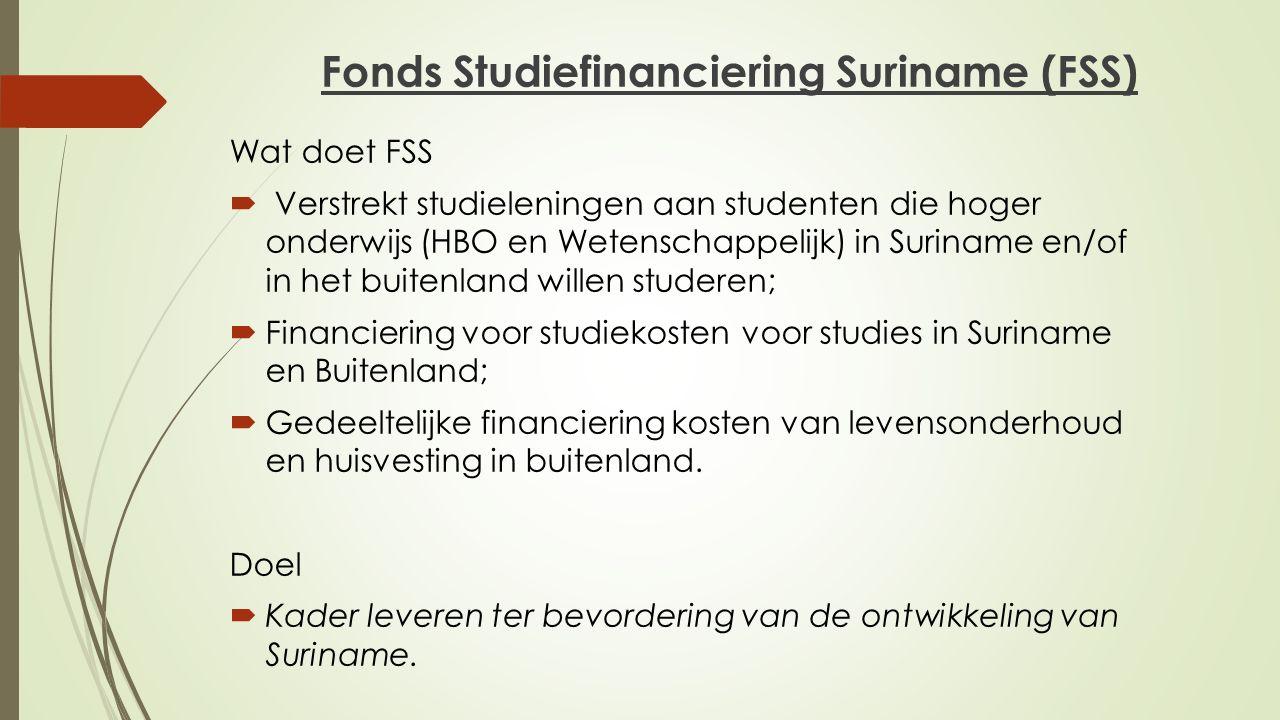 Fonds Studiefinanciering Suriname (FSS)