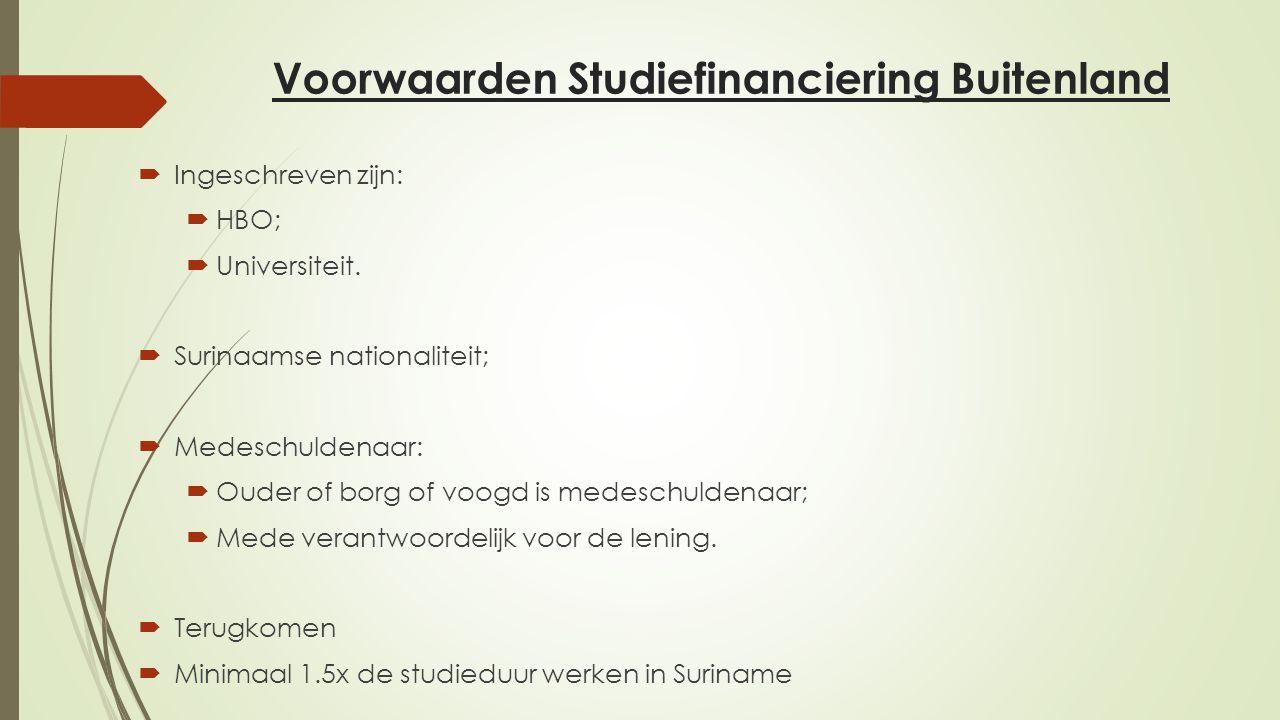 Voorwaarden Studiefinanciering Buitenland