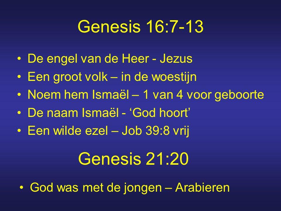 Genesis 16:7-13 Genesis 21:20 De engel van de Heer - Jezus