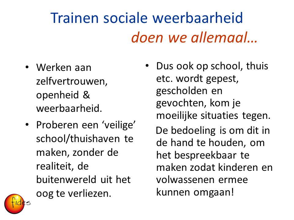 Trainen sociale weerbaarheid doen we allemaal…