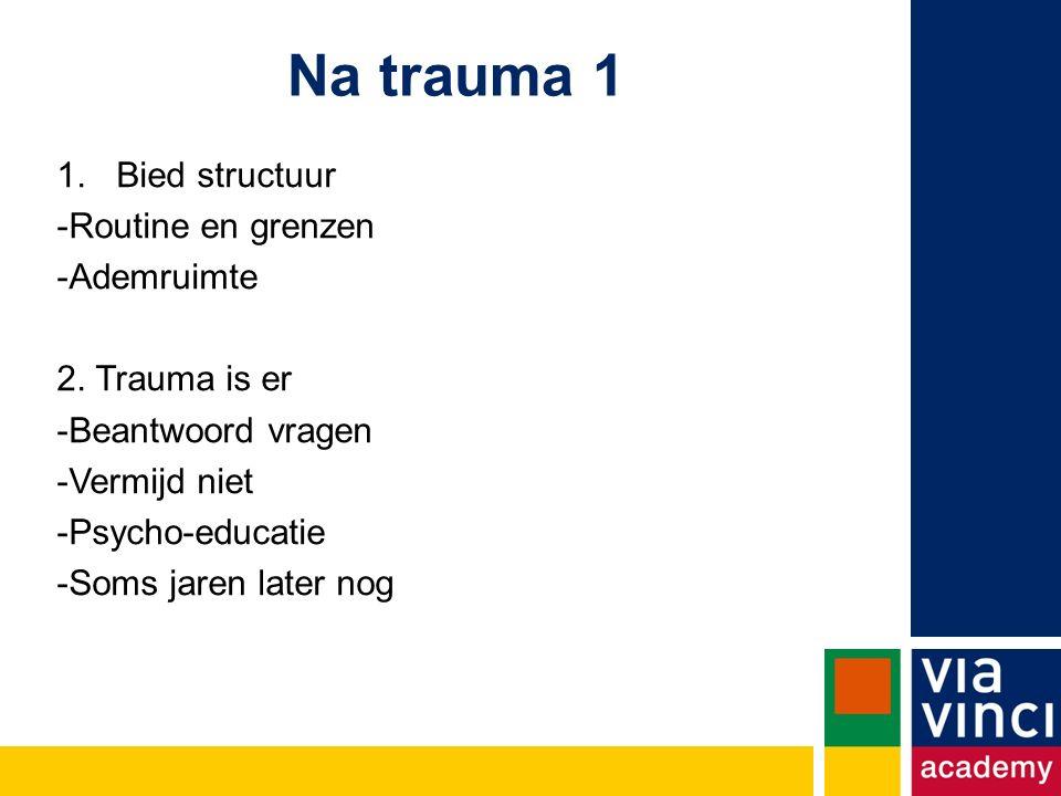 Na trauma 1 Bied structuur Routine en grenzen Ademruimte