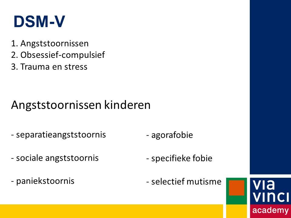 DSM-V Angststoornissen kinderen 1. Angststoornissen