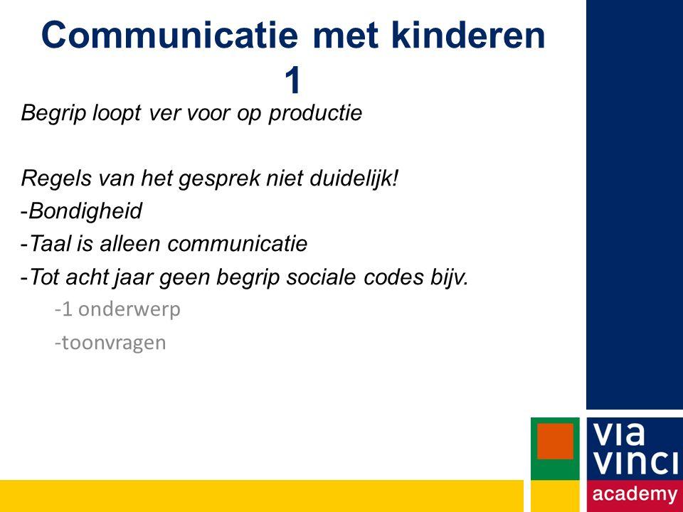Communicatie met kinderen 1
