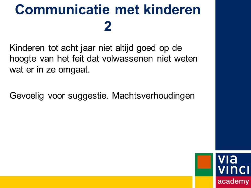 Communicatie met kinderen 2