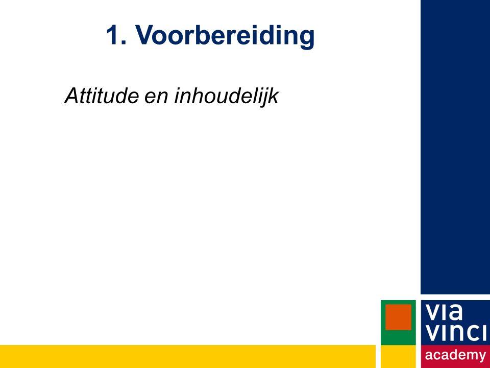 Attitude en inhoudelijk