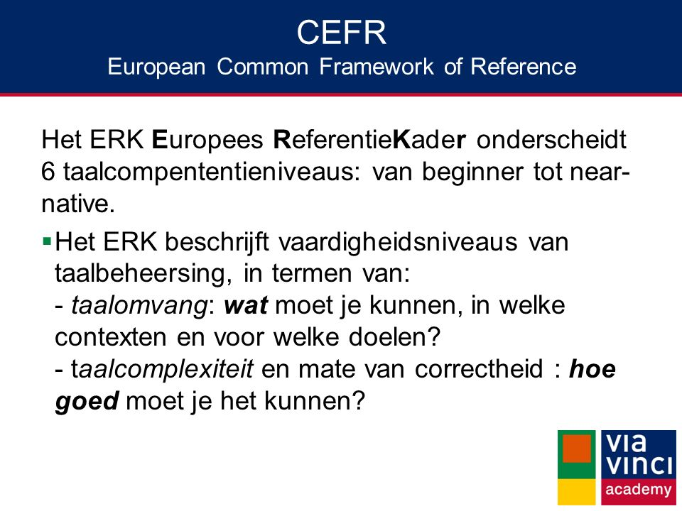 CEFR European Common Framework of Reference
