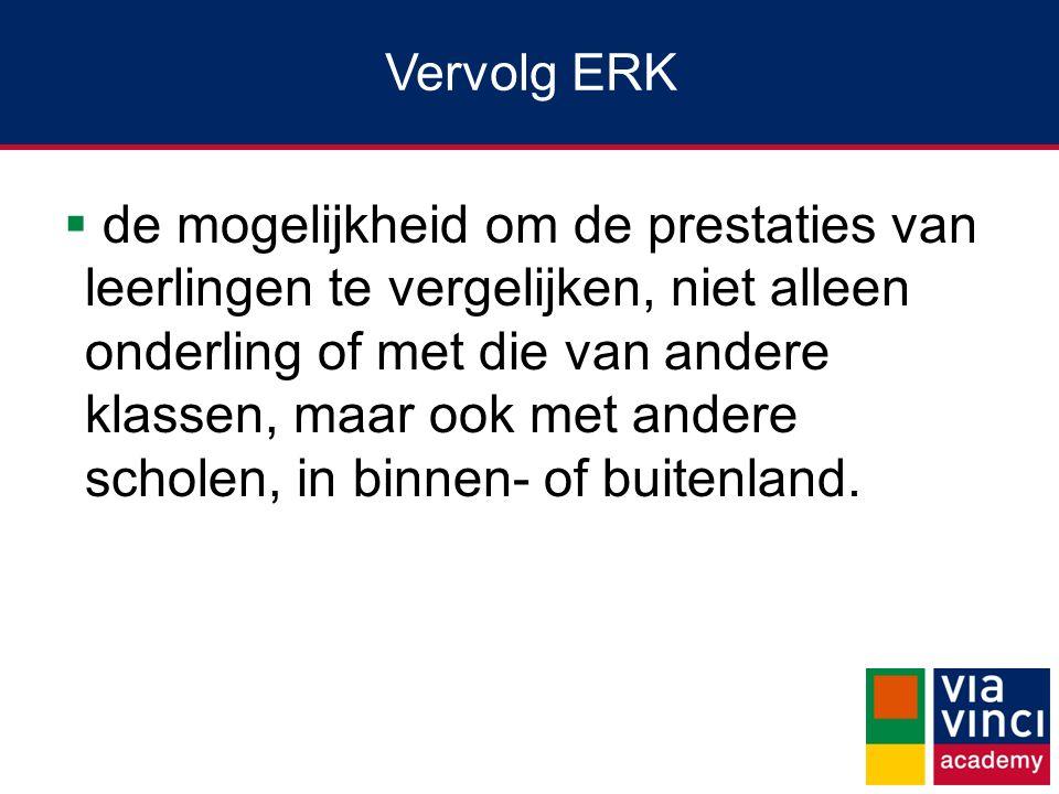 Vervolg ERK