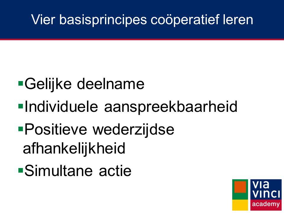 Vier basisprincipes coöperatief leren