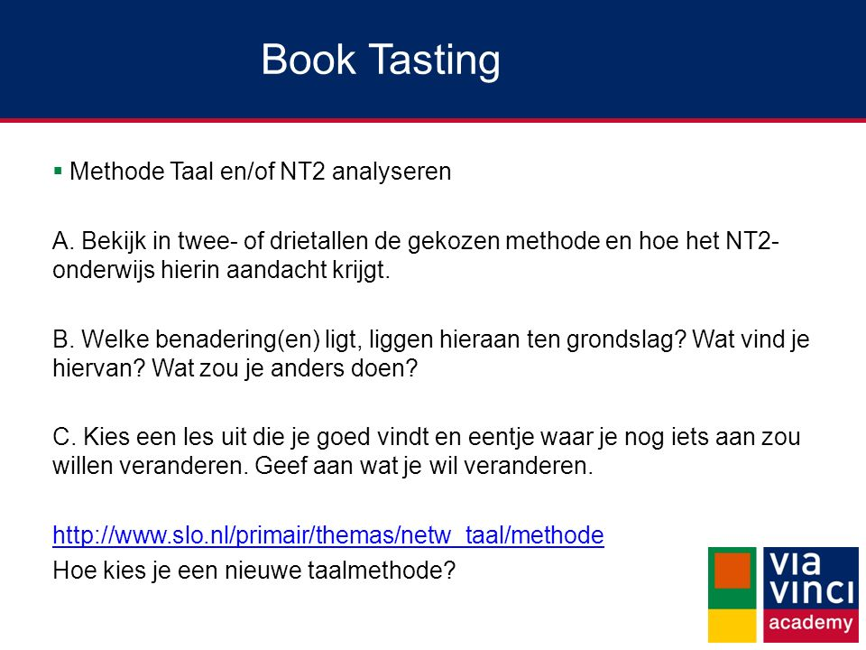 Book Tasting Methode Taal en/of NT2 analyseren