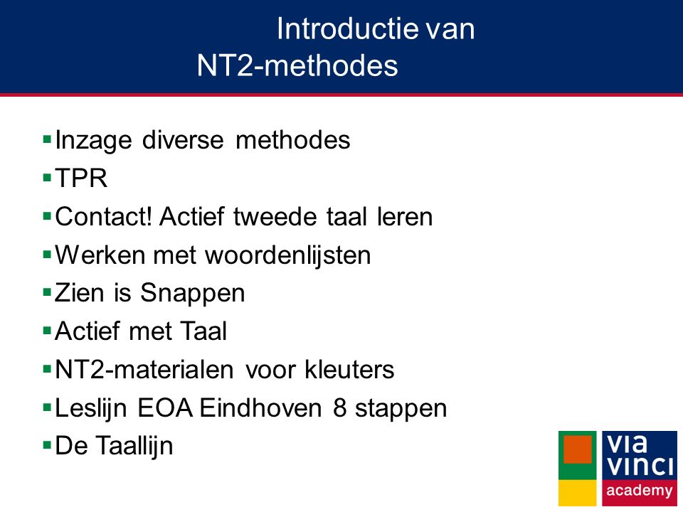 Introductie van NT2-methodes