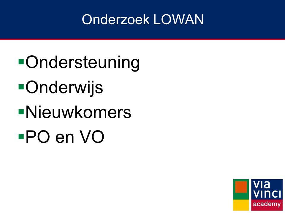 Onderzoek LOWAN Ondersteuning Onderwijs Nieuwkomers PO en VO