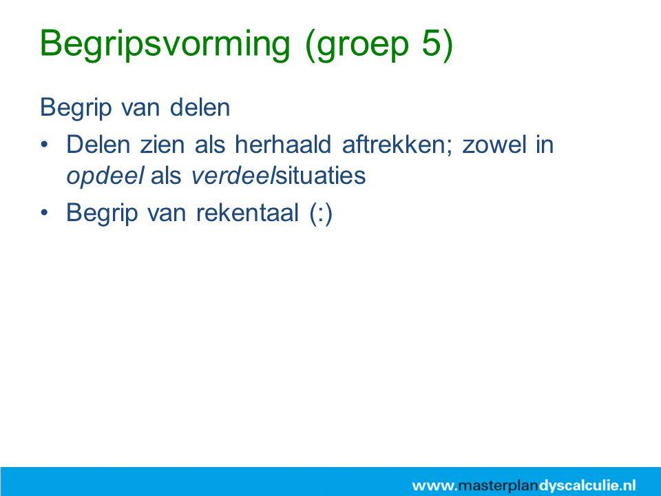 Begripsvorming (groep 5)