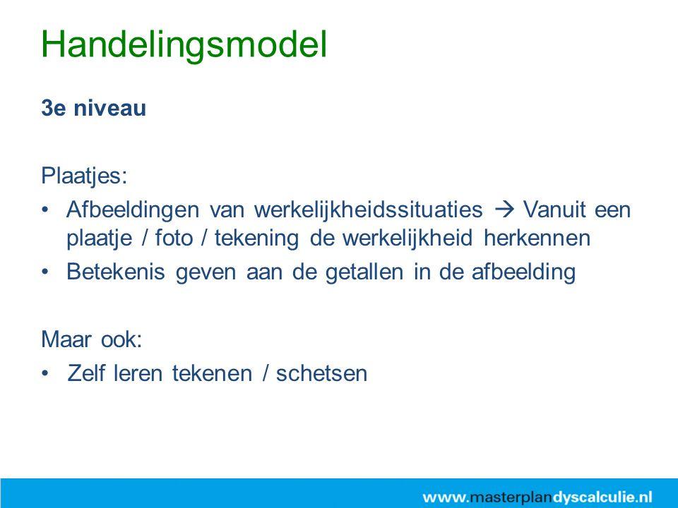 Handelingsmodel 3e niveau Plaatjes: