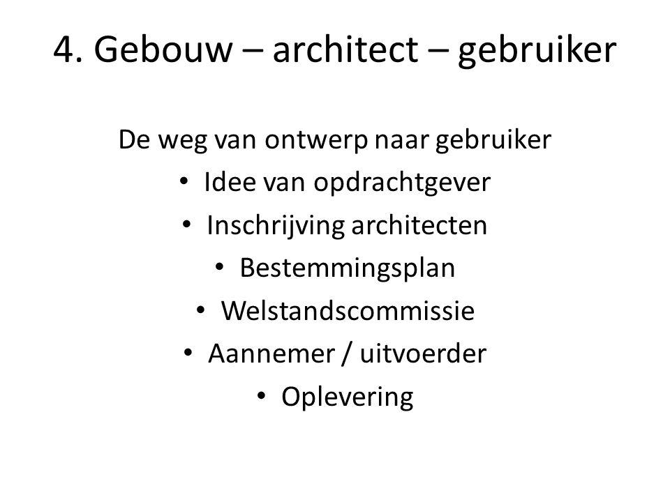4. Gebouw – architect – gebruiker