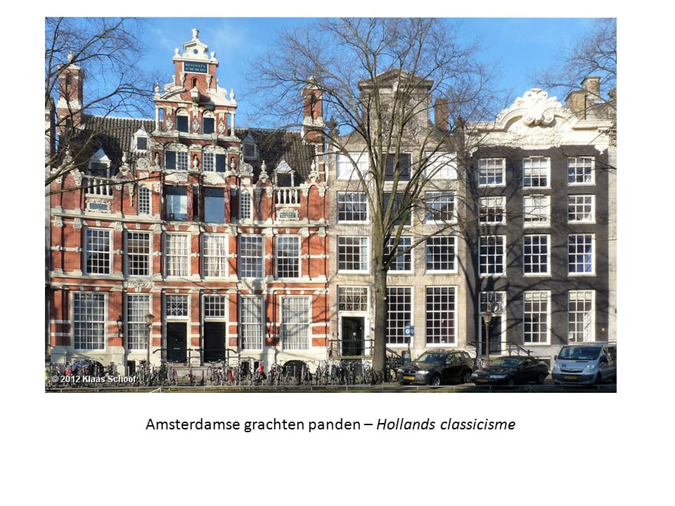 Amsterdamse grachten panden – Hollands classicisme