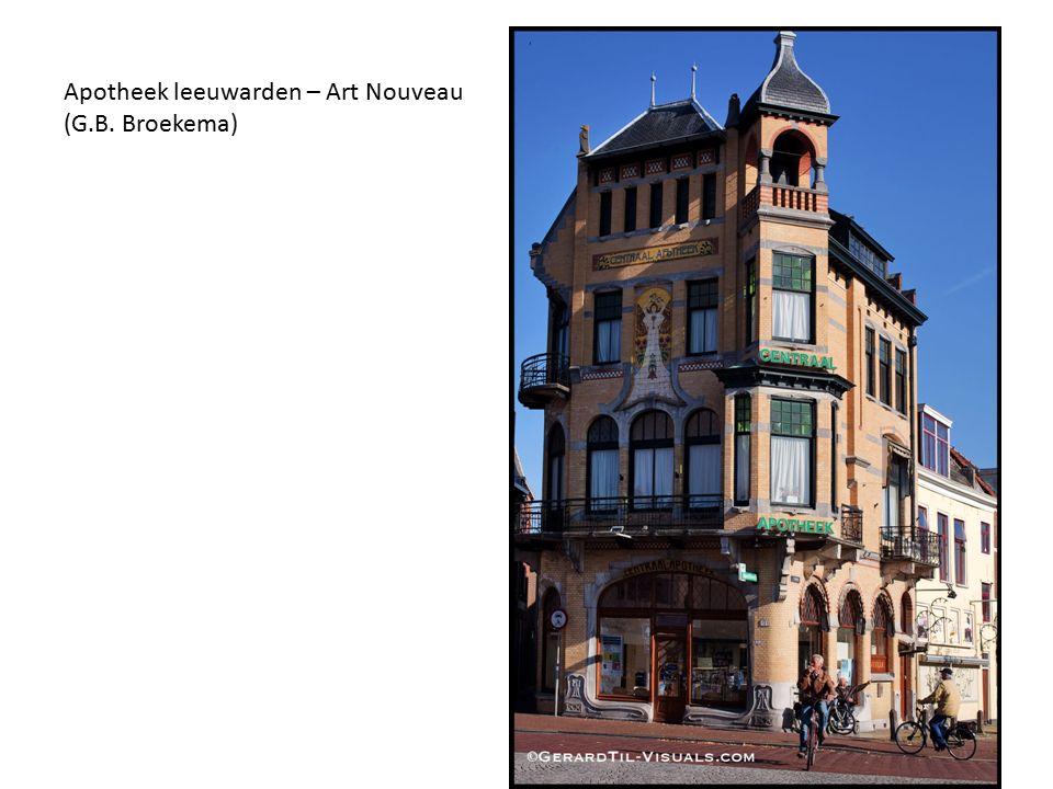Apotheek leeuwarden – Art Nouveau