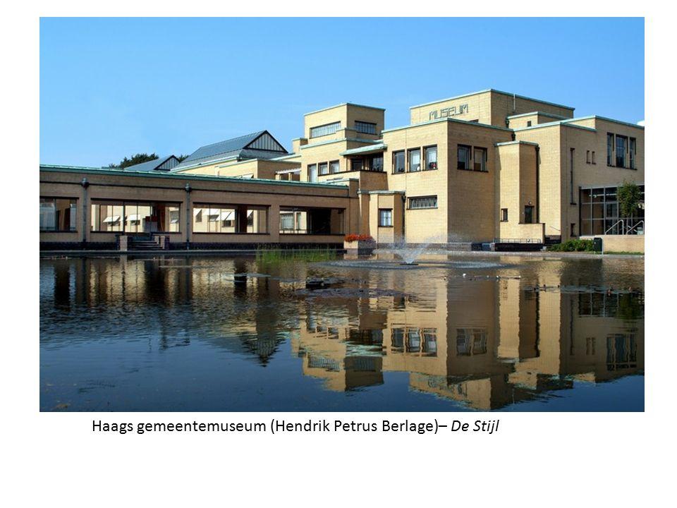 Haags gemeentemuseum (Hendrik Petrus Berlage)– De Stijl