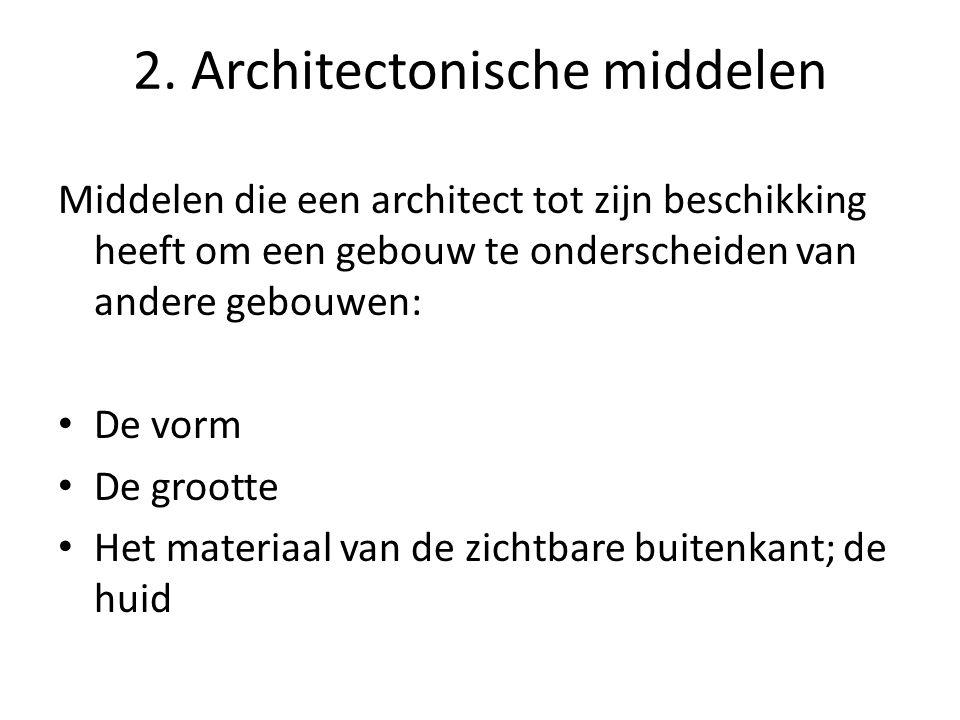 2. Architectonische middelen