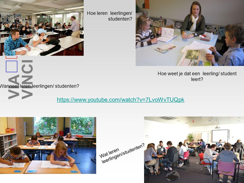 Hoe leren leerlingen/ studenten