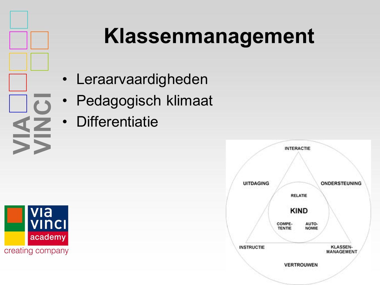 Klassenmanagement Leraarvaardigheden Pedagogisch klimaat