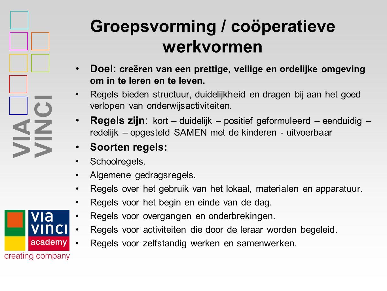Groepsvorming / coöperatieve werkvormen