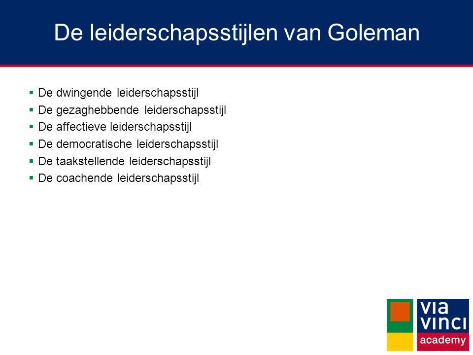 De leiderschapsstijlen van Goleman
