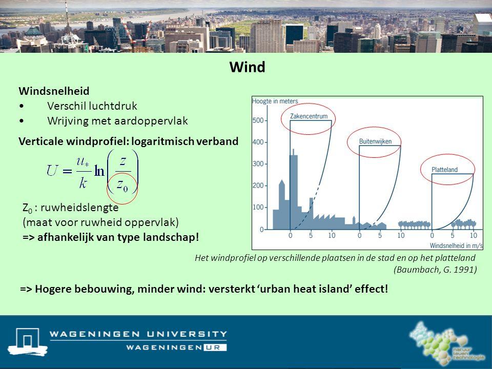 Wind Windsnelheid Verschil luchtdruk Wrijving met aardoppervlak