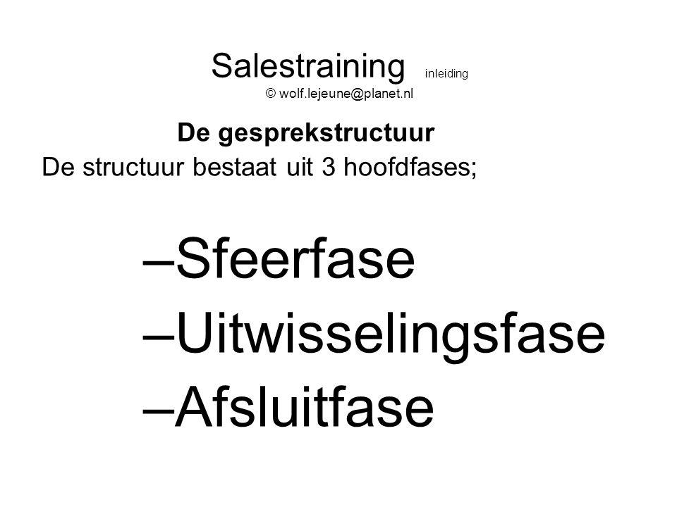 Salestraining inleiding © wolf.lejeune@planet.nl