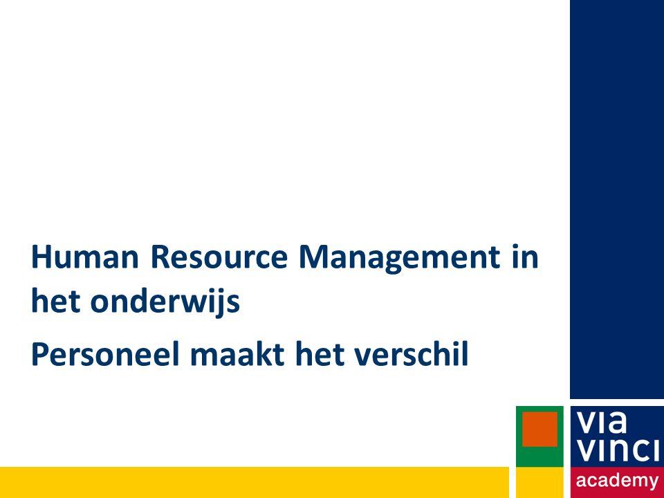 Human Resource Management in het onderwijs