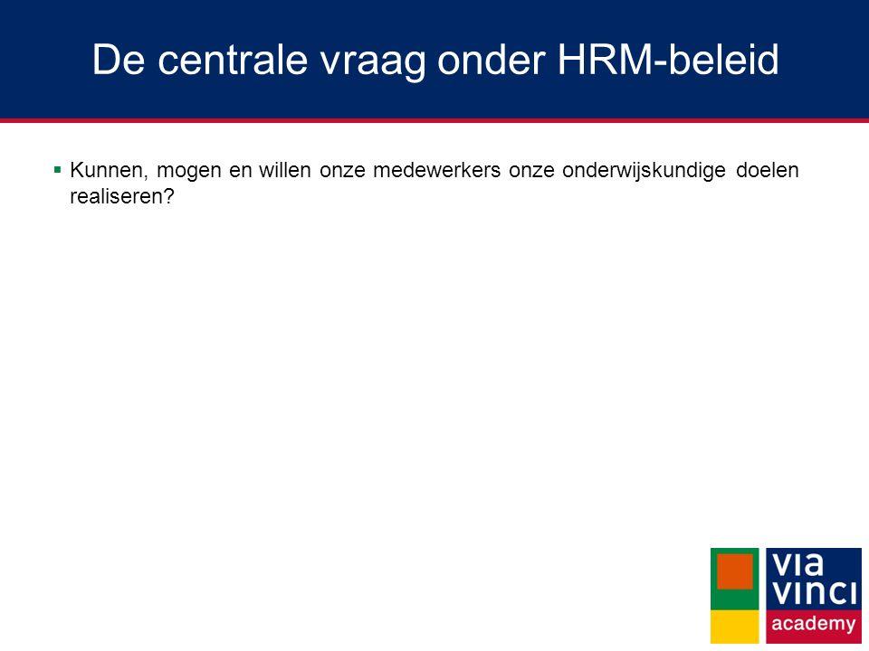De centrale vraag onder HRM-beleid